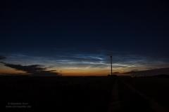 Leuchtende Nachtwolken - NLC - vom 13/14.06.19 über Braunschweig