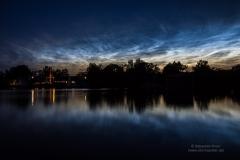Leuchtende Nachtwolken - NLC - vom 21/22.06.19 über Braunschweig 2