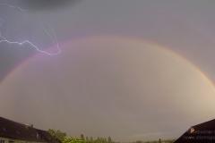 Regenbogen mit Blitz vom 19.06.19