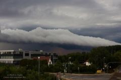 Gewitter vom 02.08.19 mit Shelfcloud bei WOB - Fallersleben
