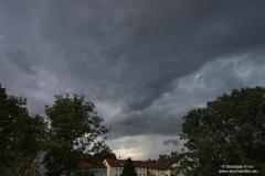 Gewitter vom 05.08.19 - Blick nach Westen von BS-Rüningen