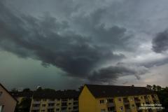 Gewitter vom 05.08.19 - Blick nach Osten von BS-Rüningen