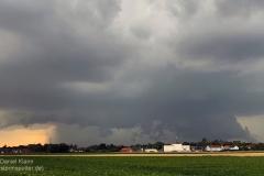 Superzelle vom 05.08.19 - Blick nach Westen von Rautheim