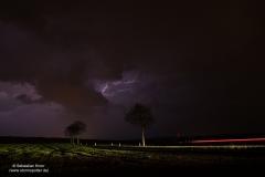 Nachtgewitter vom 12/13.04.18 bei  Scheppau