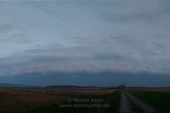 22.04.2018 - Panorama 2 - Absterbende Böenfront bei Scheppau