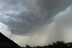 Heranziehendes Gewitter bei BS-Rüningen 28.07.18 - 14:45 Uhr