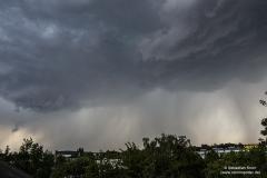 Heranziehendes Gewitter bei BS-Rüningen 28.07.18 - 14:45 Uhr  3